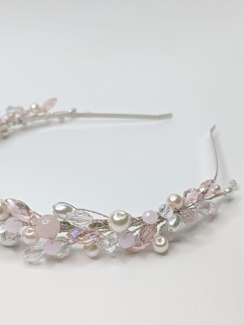 Свадебный ободок с розовым опалом, артикул 5638032, фото №3