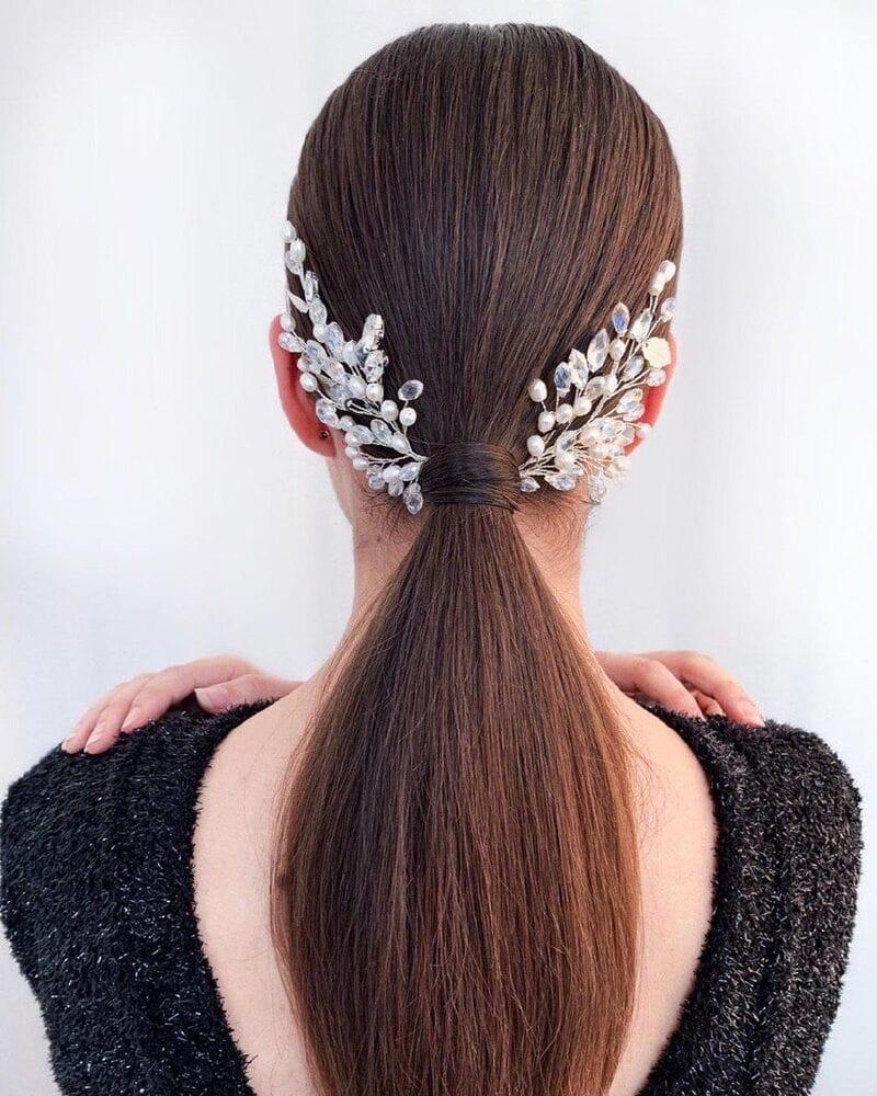 Свадебное украшение для волос веточки, артикул 5654010, фото №8