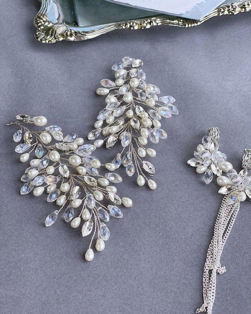 Свадебное украшение для волос веточки, артикул 5654010, фото №7