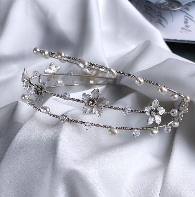 Свадебный обруч с цветами, артикул 5668010, фото №6