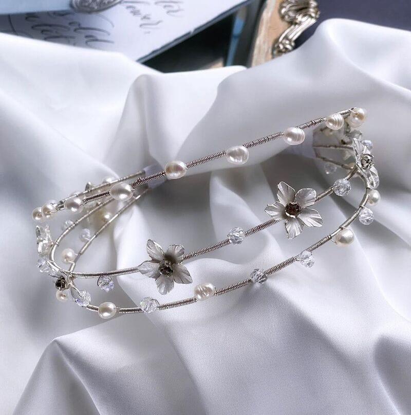 Свадебный обруч с цветами, артикул 5668010, фото №5