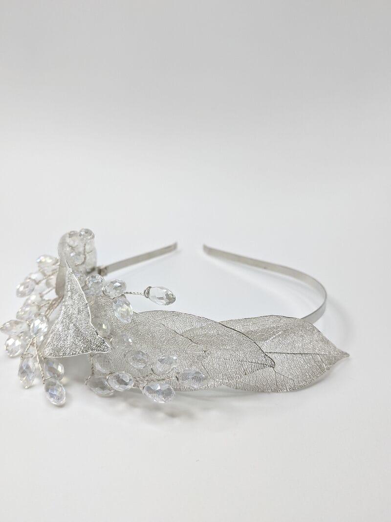 Свадебный ободок на голову с листьями, артикул 5668029, фото №1