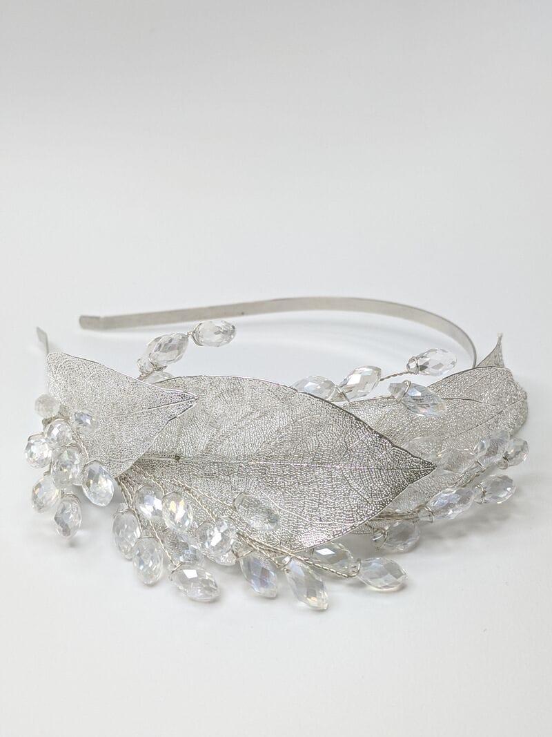 Свадебный ободок на голову с листьями, артикул 5668029, фото №2