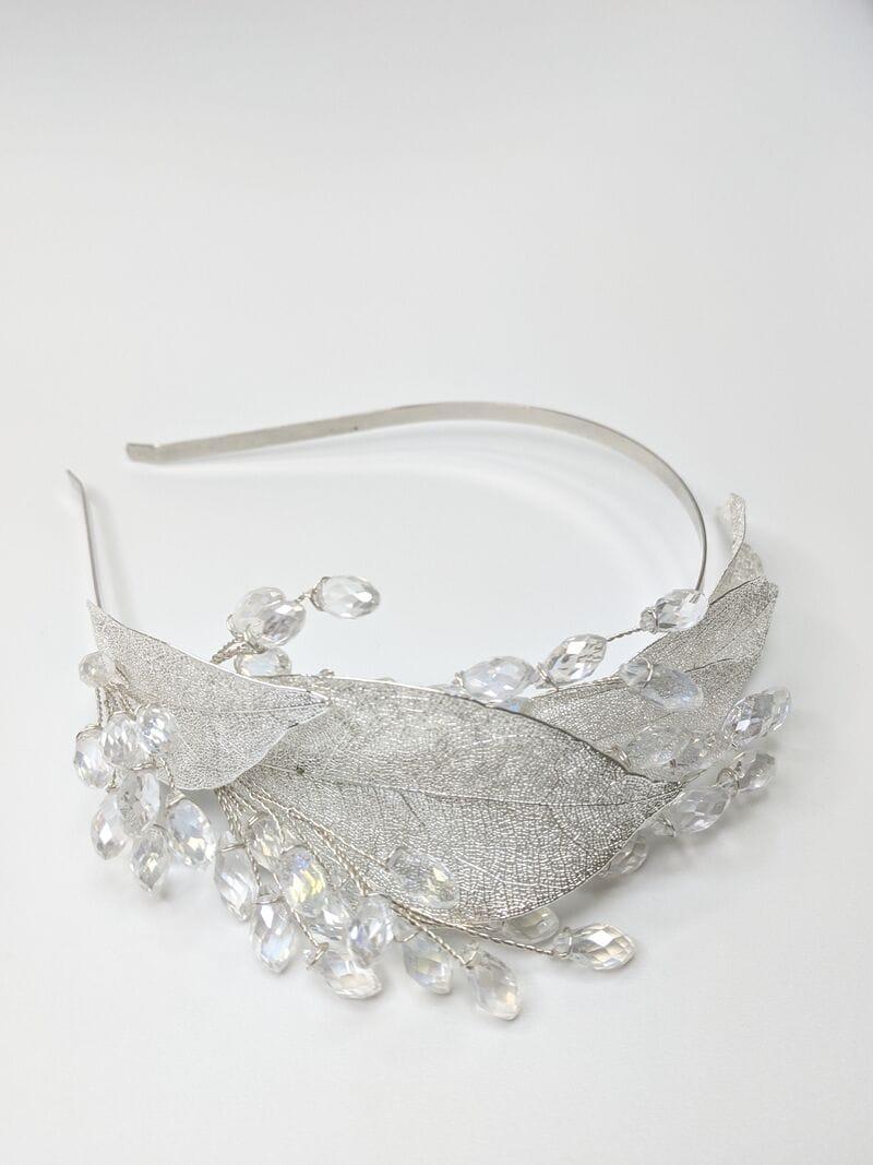 Свадебный ободок на голову с листьями, артикул 5668029, фото №3