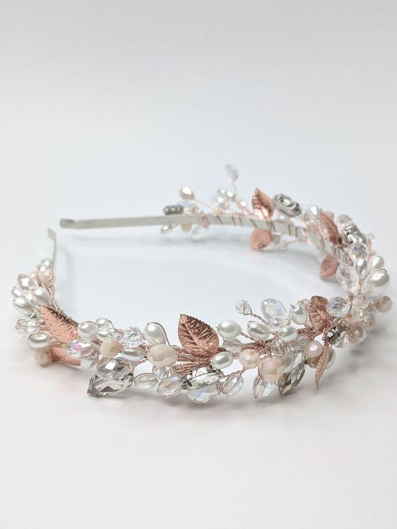 Свадебный ободок розовое золото, артикул 5668033, фото №1