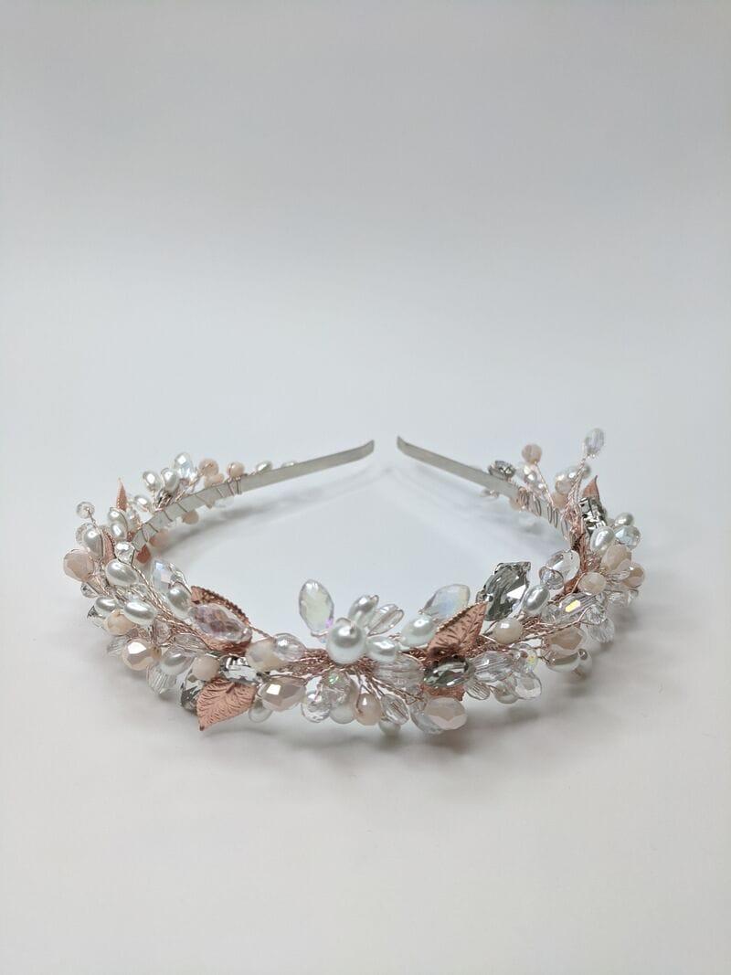 Свадебный ободок розовое золото, артикул 5668033, фото №2