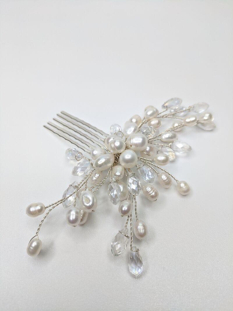 Свадебный гребень трансформер с жемчугом, артикул 5668055, фото №1