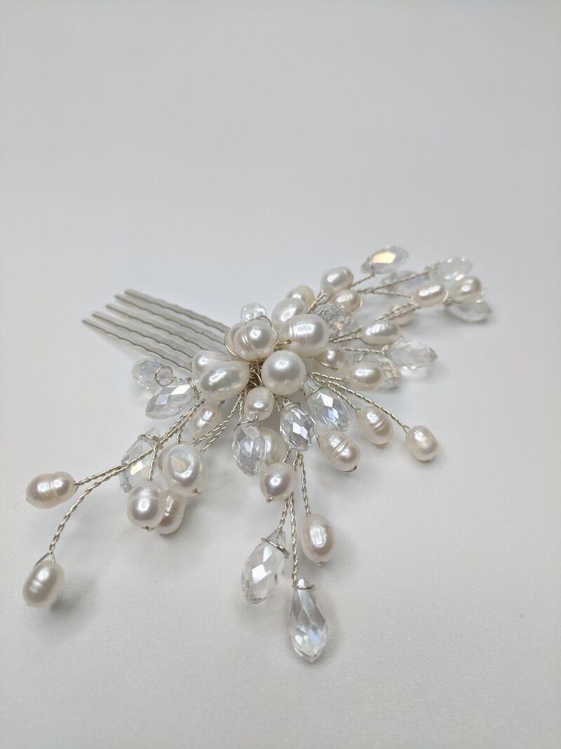 Свадебный гребень трансформер с жемчугом, артикул 5668055, фото №2