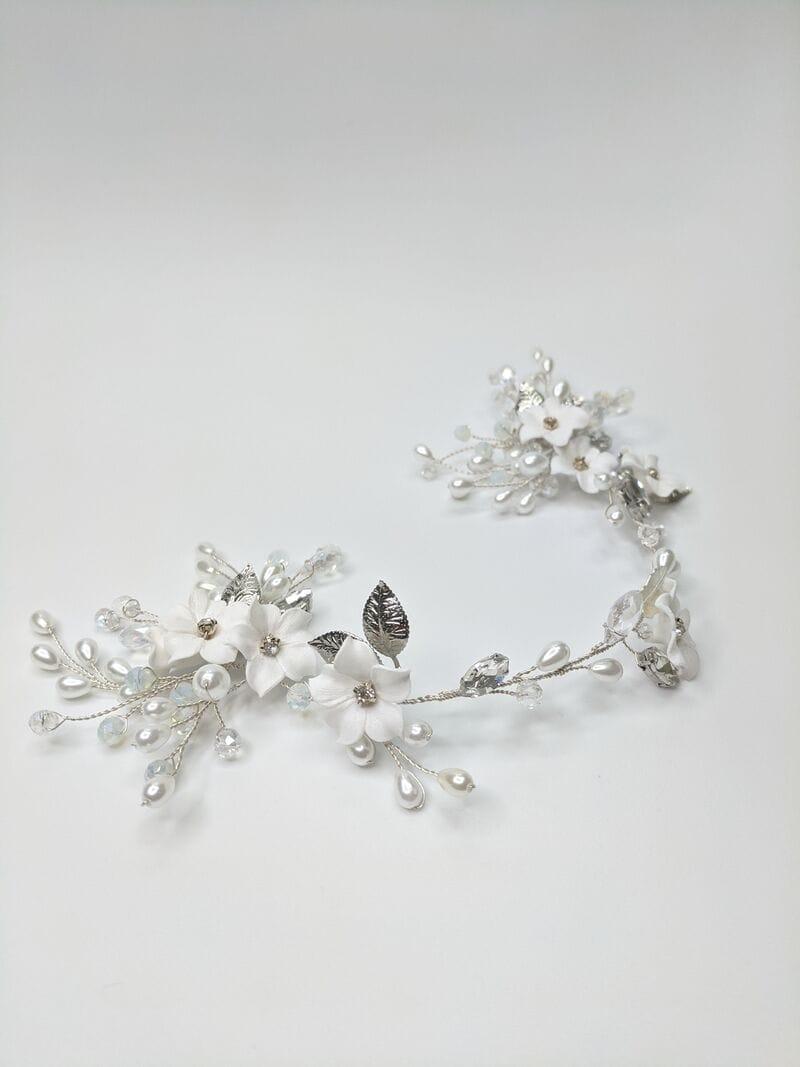 Свадебное украшение с цветами из фарфора, артикул 5673022, фото №1