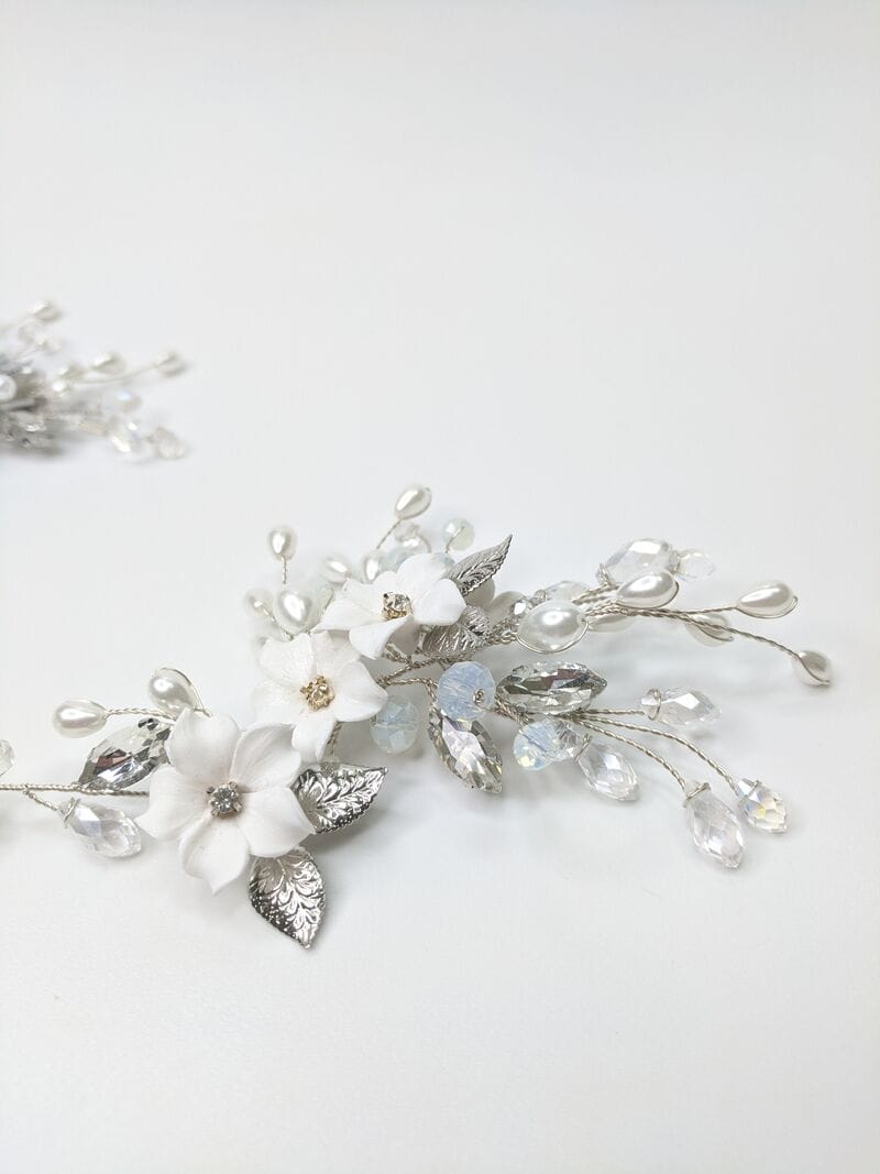 Свадебное украшение с цветами из фарфора, артикул 5673022, фото №3