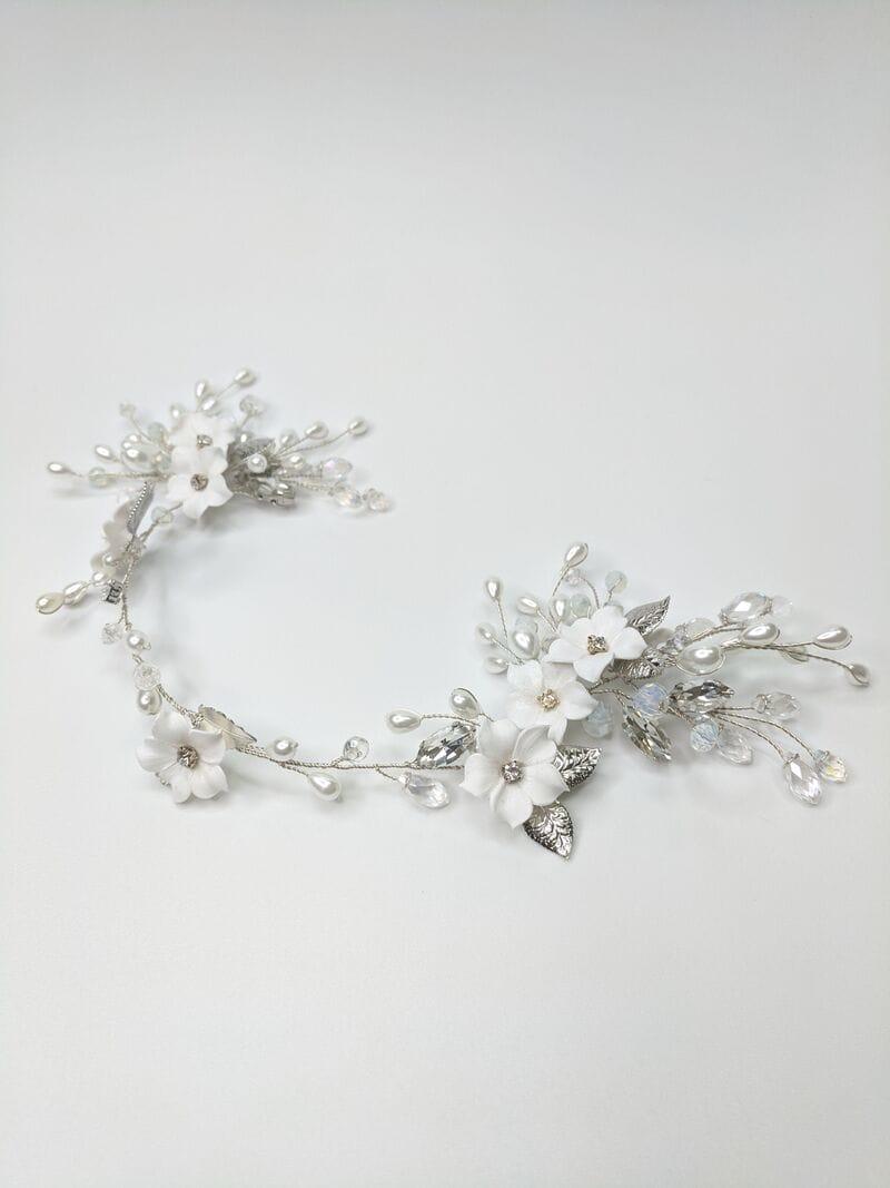 Свадебное украшение с цветами из фарфора, артикул 5673022, фото №4
