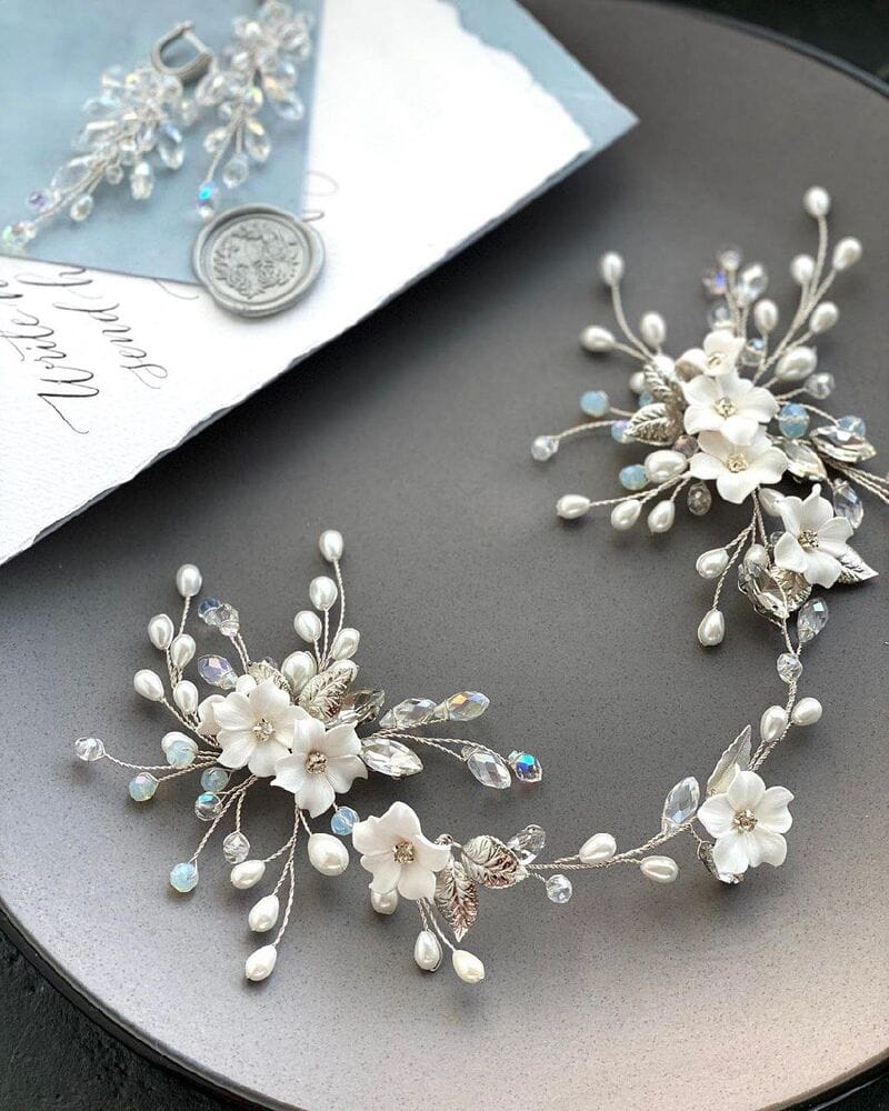 Свадебное украшение с цветами из фарфора, артикул 5673022, фото №5