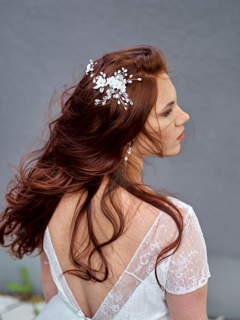 Свадебное украшение с цветами из фарфора, артикул 5673022, фото №7