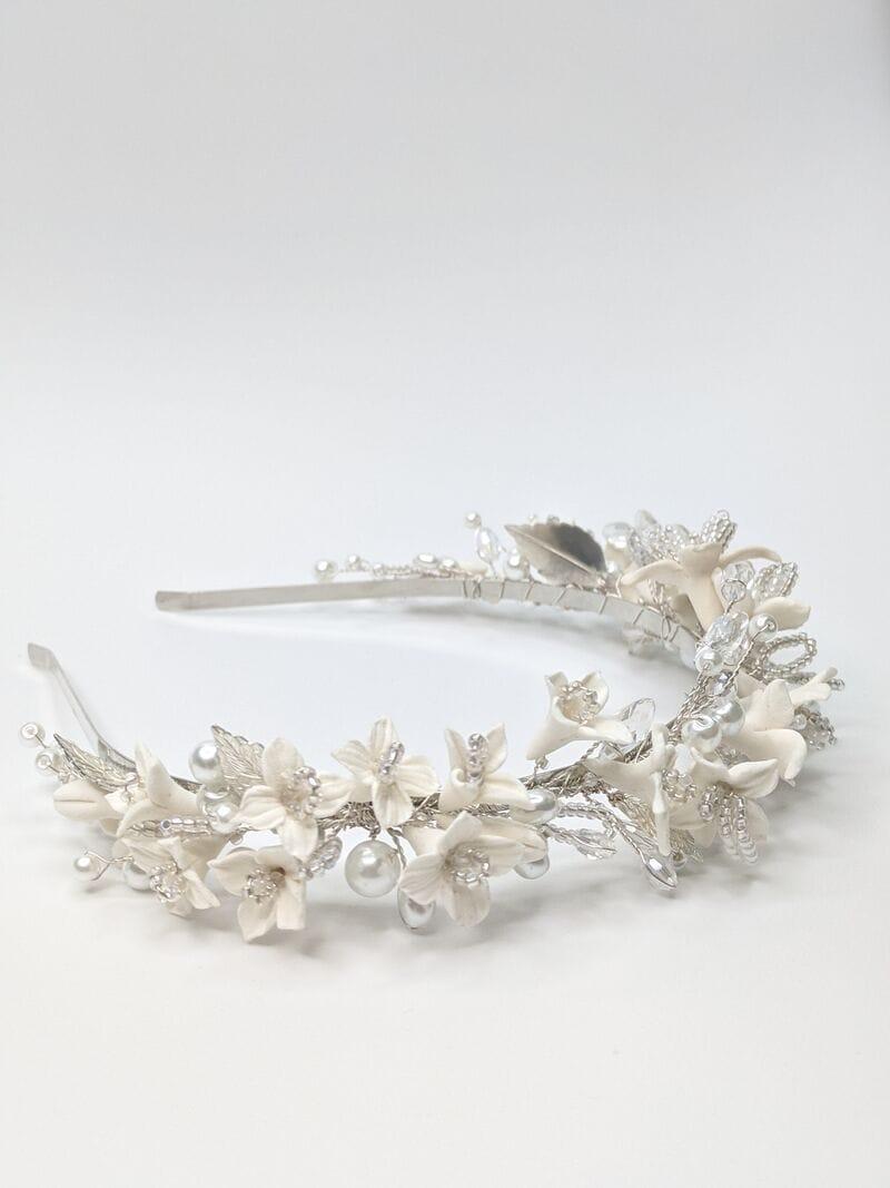 Свадебный ободок DeCo «Белые цветы», артикул 5698063, фото №1