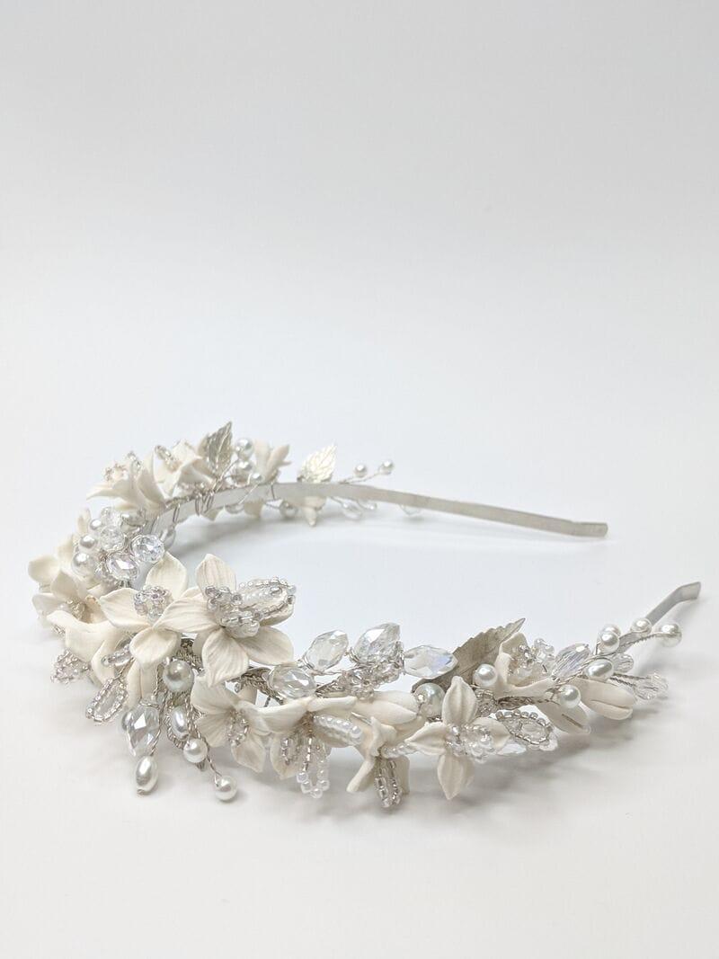 Свадебный ободок DeCo «Белые цветы», артикул 5698063, фото №2
