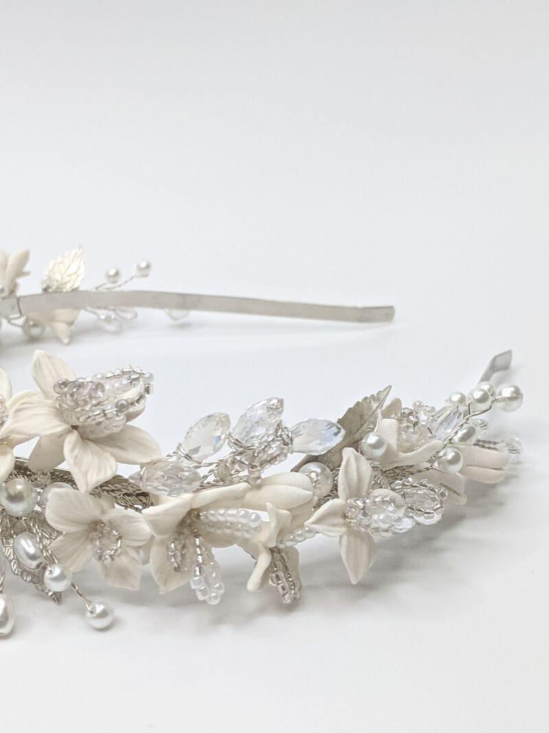 Свадебный ободок DeCo «Белые цветы», артикул 5698063, фото №3