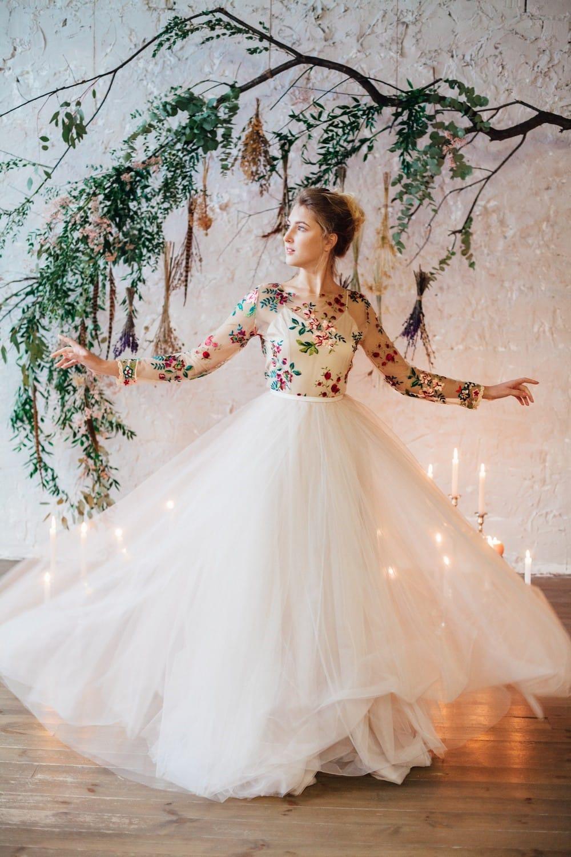 Свадебное платье FLOWER, коллекция THE LOOK OF ANGEL, бренд RARE BRIDAL, фото 2