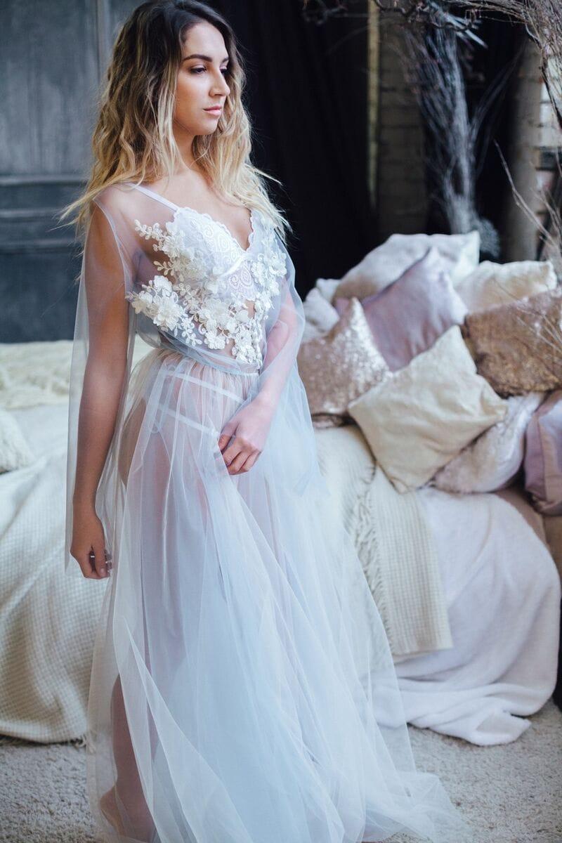 Будуарное платье для беременных, артикул 105, коллекция WEDDING MORNING, бренд RARE BRIDAL, фото 1