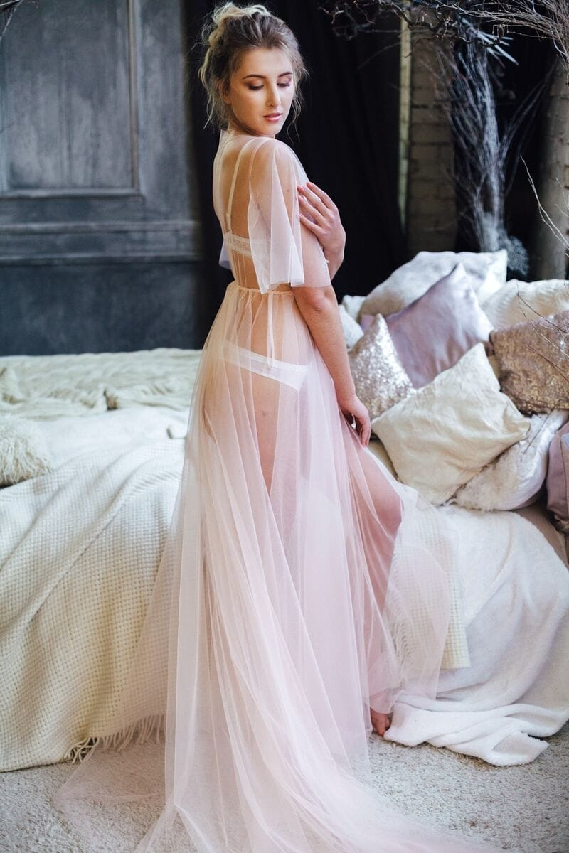 Прозрачный пеньюар, артикул 106, коллекция WEDDING MORNING, бренд RARE BRIDAL, фото 1