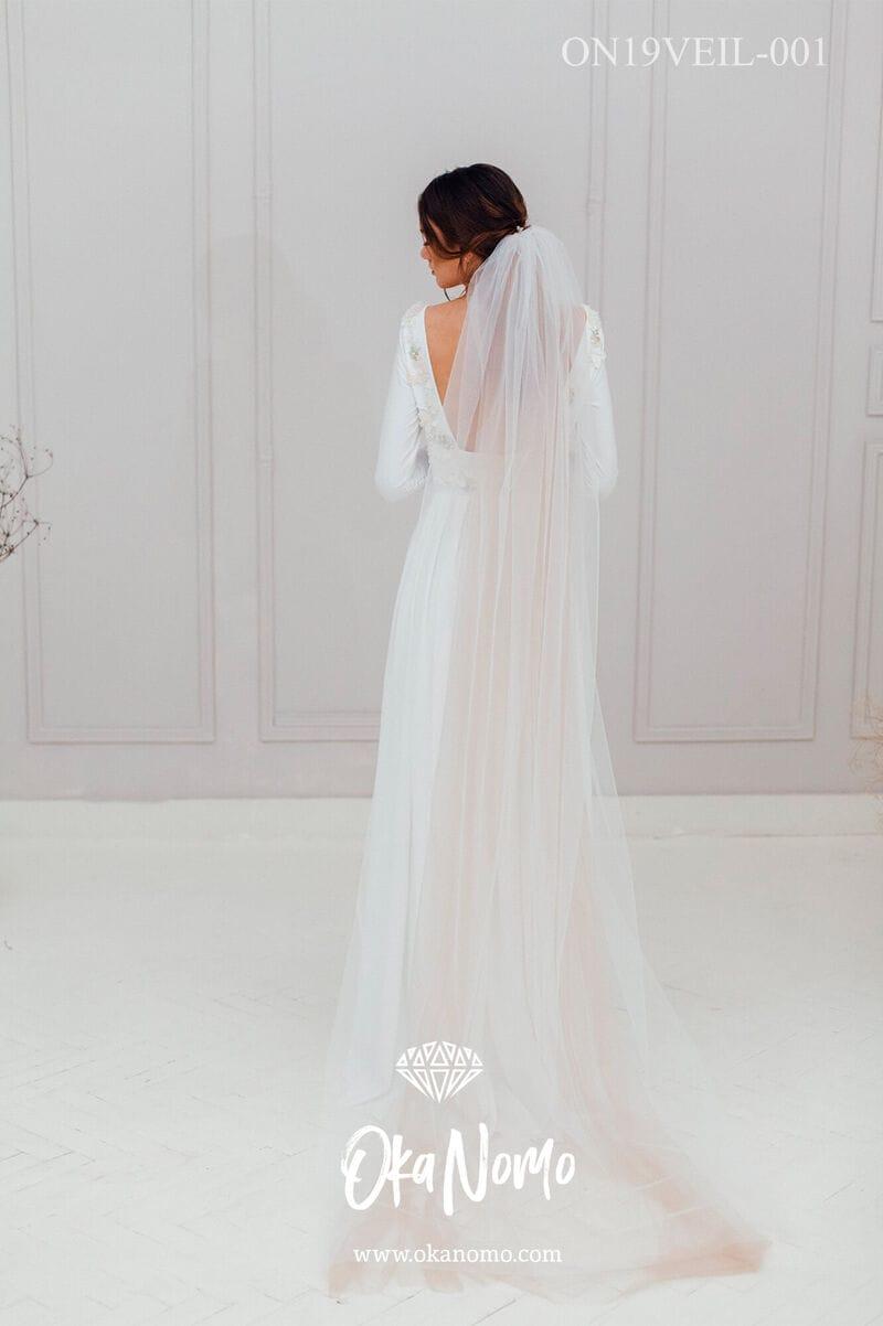 Свадебная фата в пол, артикул ON19VEIL-001, фото №1