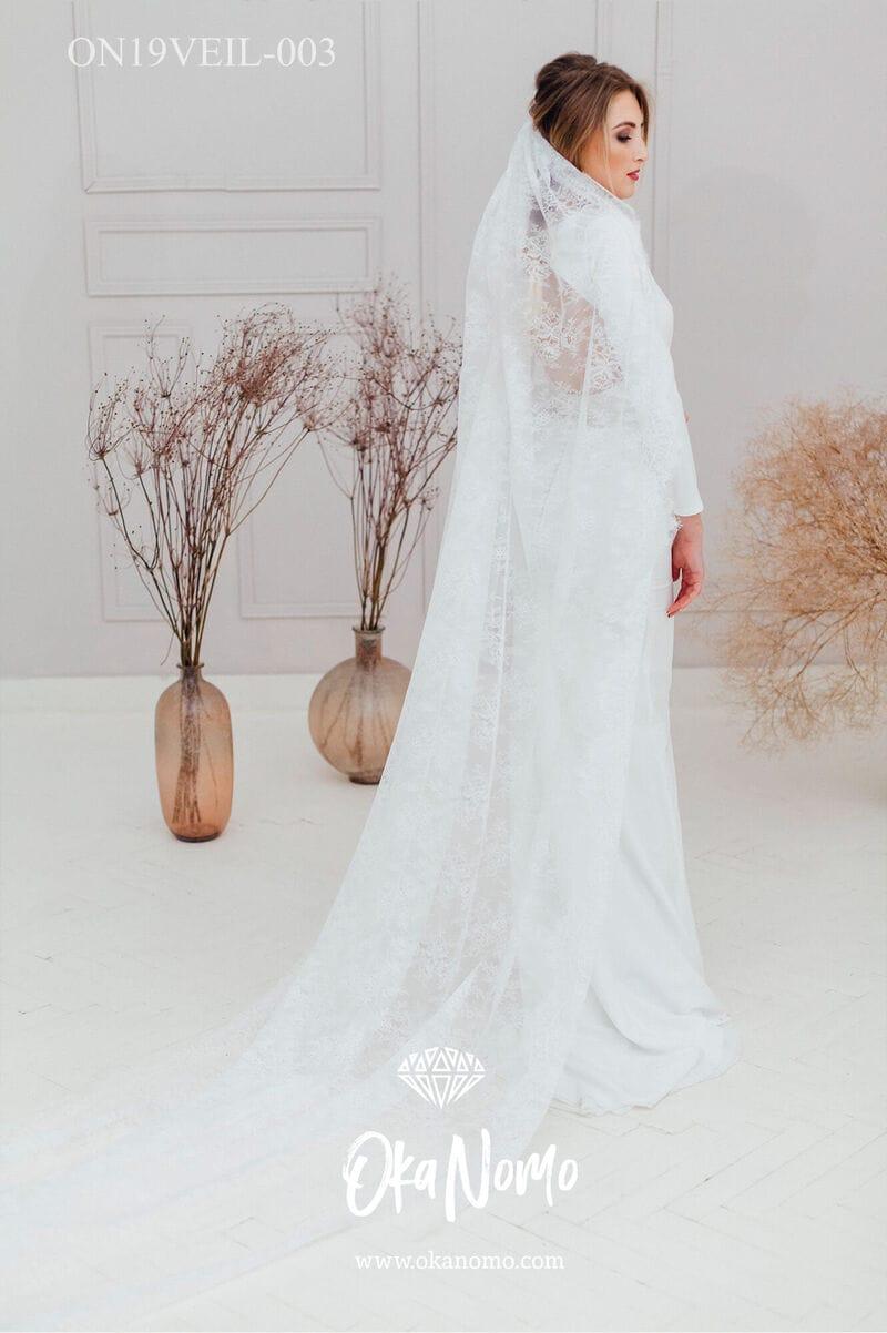 Очень длинная свадебная фата, артикул ON19VEIL-003, фото №1