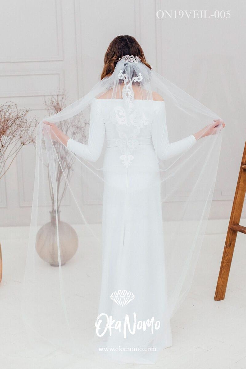 Свадебная фата в пол для венчания, артикул ON19VEIL-005, фото №1